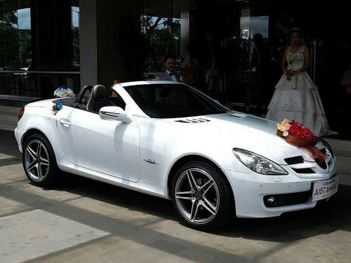 sewa-rental-mobil-mewah-mercedes bens slk-pengantin-wedding car